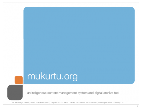 Mukurtu: an Indigenous Archive Tool | The Sustainable